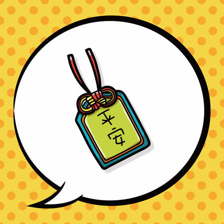 talism�n: Garabato talism�n chino, burbuja del discurso