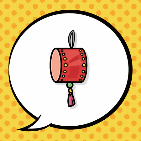 chinese drum: chinese drum doodle, speech bubble