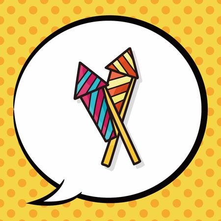 cracker: birthday cracker doodle, speech bubble