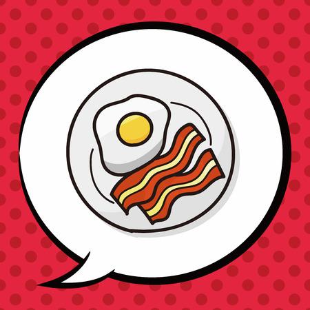 sizzle: breakfast doodle, speech bubble Illustration