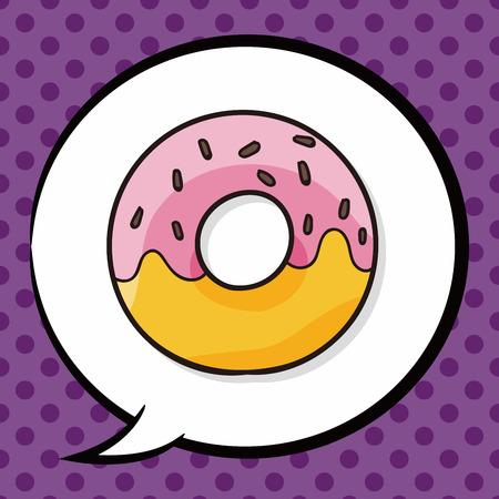 donut doodle, speech bubble