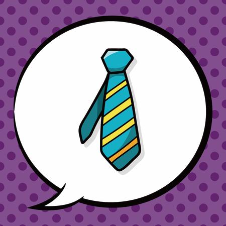 necktie: necktie doodle, speech bubble