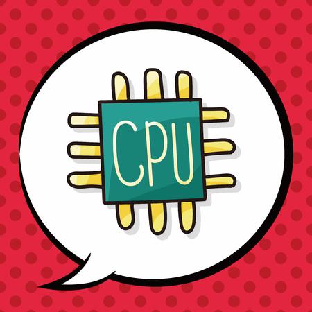 ic: cpu doodle, speech bubble