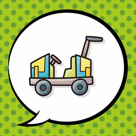 junkyard: toy car doodle, speech bubble