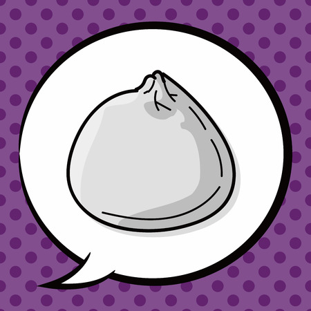 buns: Steamed buns doodle, speech bubble