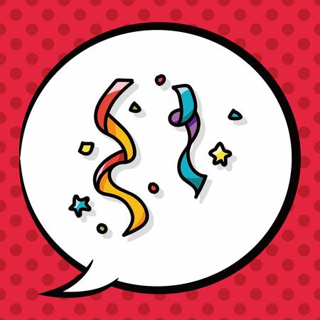 birthday cracker doodle, speech bubble