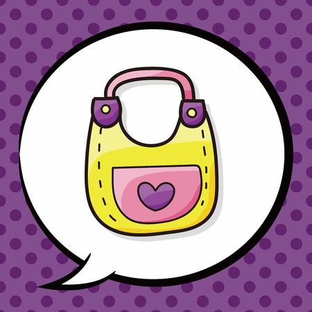 bibs: baby Bibs doodle, speech bubble
