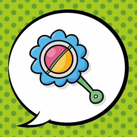 sonaja: juguete sonajero garabato, la burbuja del discurso