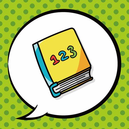 talking dictionary: book doodle, speech bubble