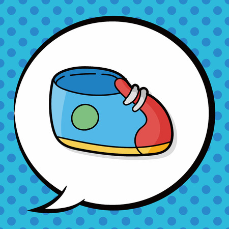 baby shoes: baby shoes doodle, speech bubble