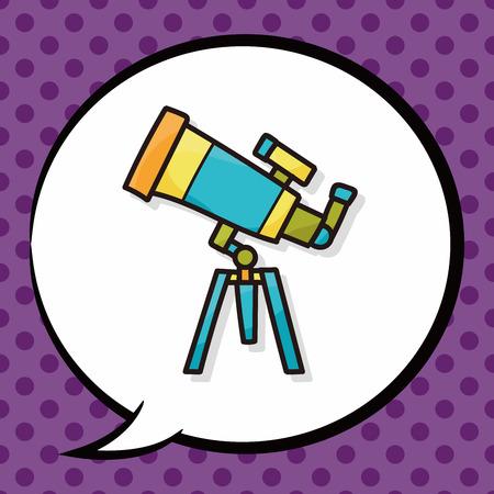 binocular: binocular doodle, speech bubble