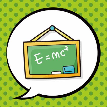 semester: blackboard doodle, speech bubble Illustration