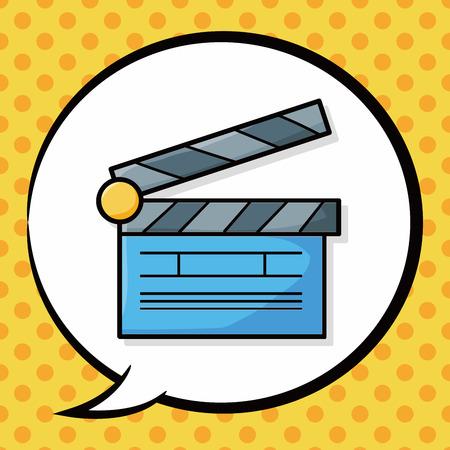 clapboard: Clapboard  doodle, speech bubble