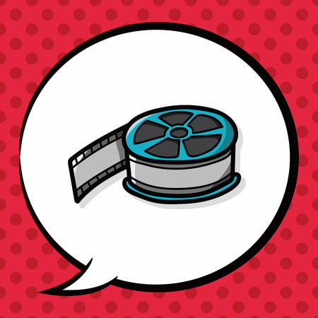 film tape: film tape doodle, speech bubble Illustration