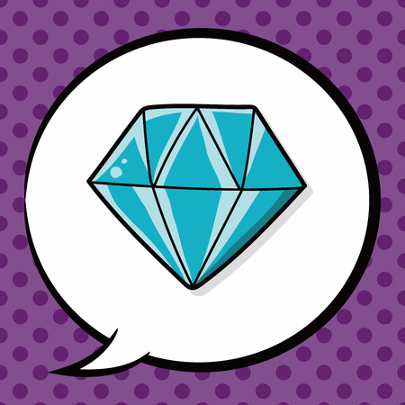 talk big: diamond doodle, speech bubble