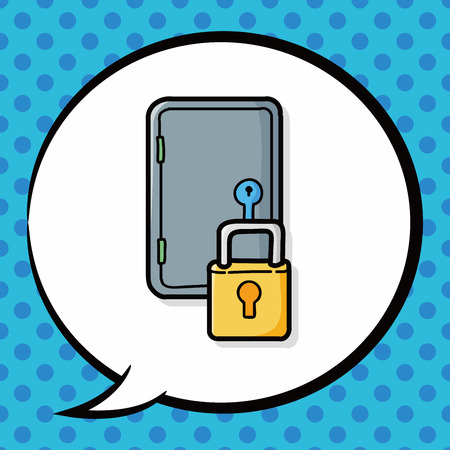 safety box: safety box doodle, speech bubble