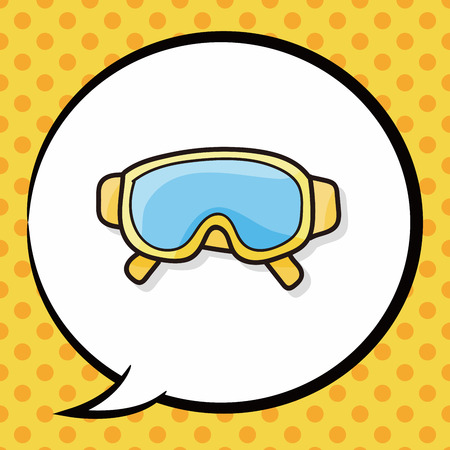 goggle: Goggle doodle, speech bubble