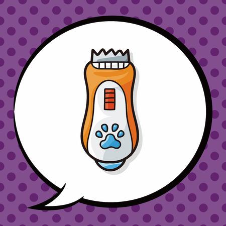 shaver: pet shaver doodle, speech bubble Illustration