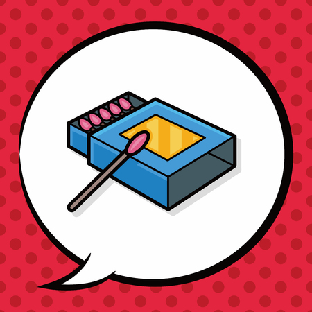 matchbox: Matches doodle, speech bubble