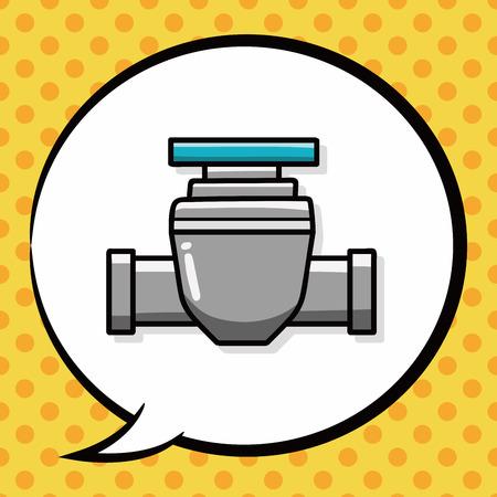 sewage: Water pipe doodle, speech bubble