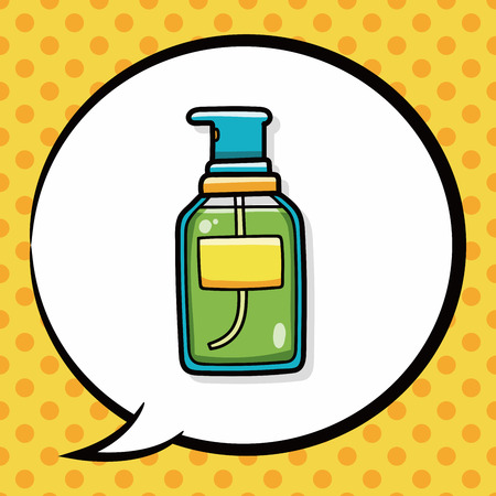 speaking tube: Lotion doodle, speech bubble