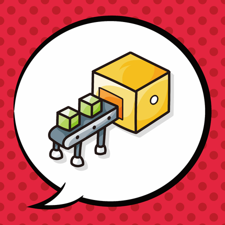 fliesband: Conveyor doodle, speech bubble