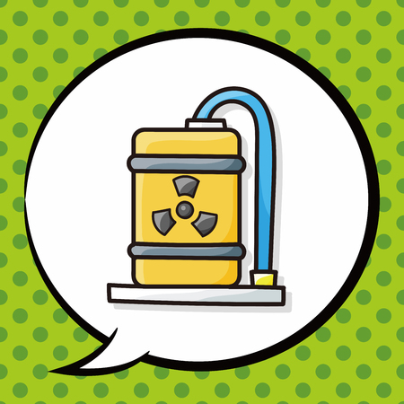 cooling tower: nuclear power doodle, speech bubble