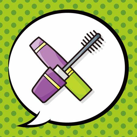 speaking tube: eyelash doodle, speech bubble