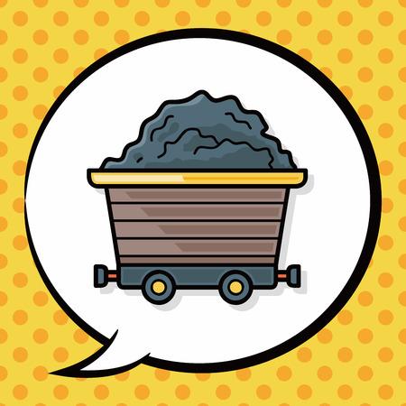 gravel: Gravel trucks doodle, speech bubble