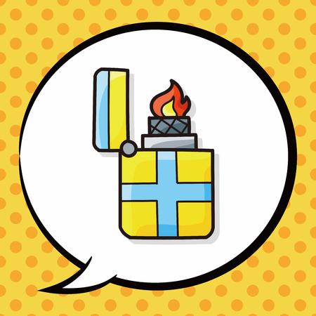 ljusare: Lighter doodle, speech bubble