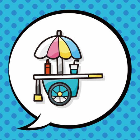 shop vendor doodle, speech bubble