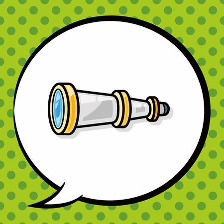 binocular doodle, speech bubble