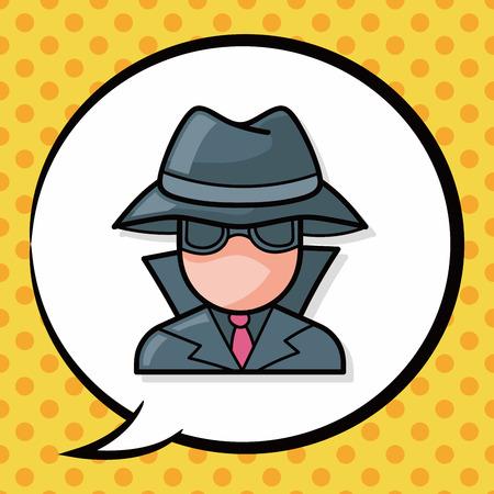 Detective doodle, speech bubble