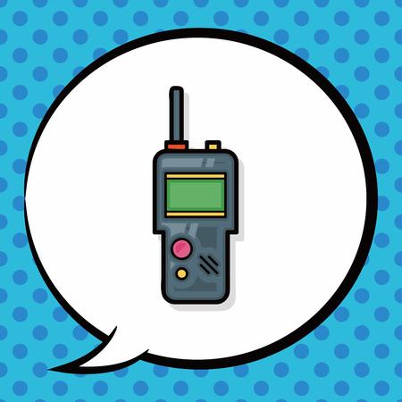 transmit: walkie doodle, speech bubble