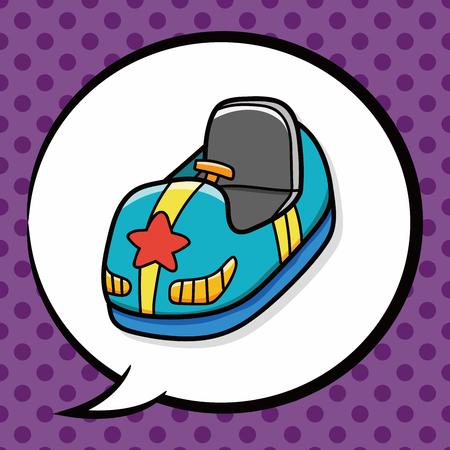 bumper: Bumper car doodle, speech bubble