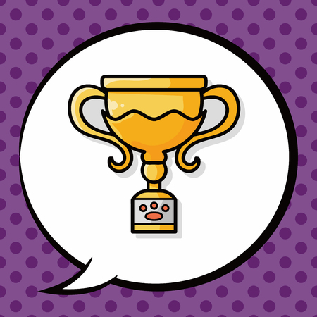 talk show: pet medal trophy doodle, speech bubble