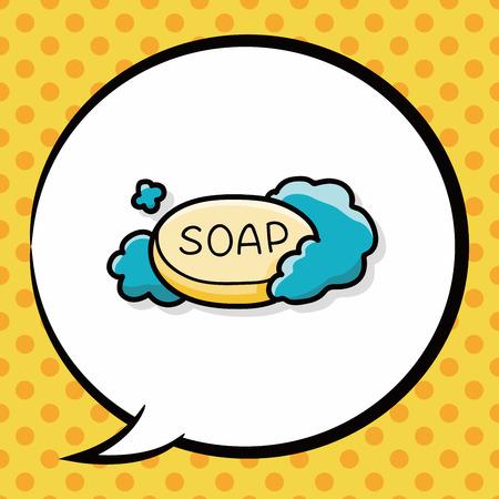 rinse: soap doodle, speech bubble