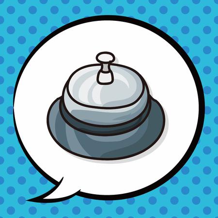 hotel bell: hotel bell doodle, speech bubble
