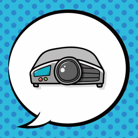 grabadora: Grabadora de video del doodle, burbuja del discurso