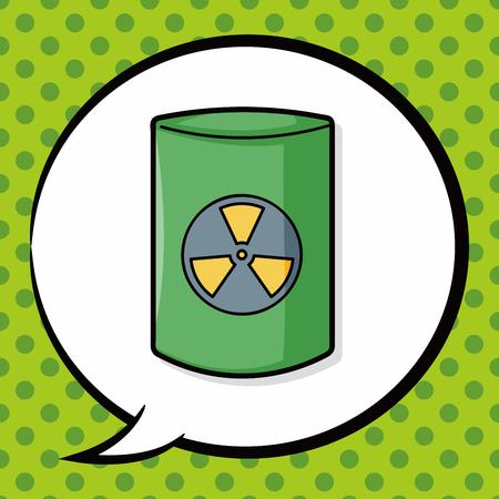 nuclear waste: nuclear power doodle, speech bubble