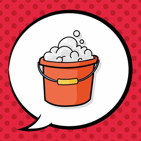 water bucket: water bucket doodle, speech bubble