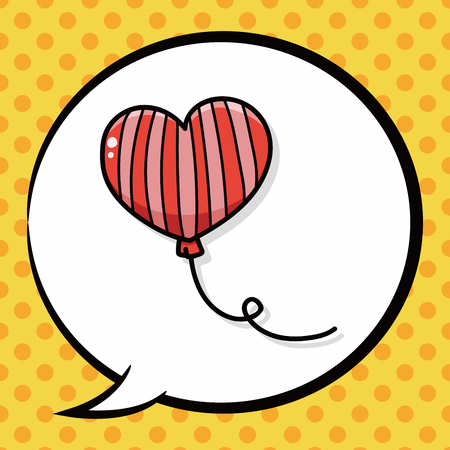 speech ballons: balloon doodle, speech bubble