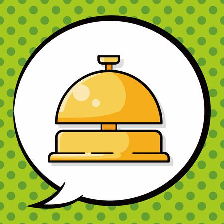 hotel bell doodle, speech bubble