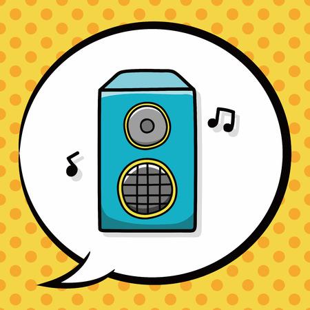 equipo de sonido: Garabato est�reo, burbuja del discurso
