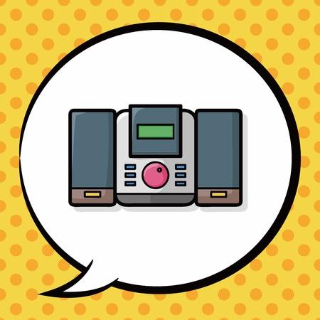 stereo: Stereo doodle, speech bubble Illustration