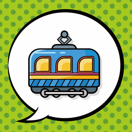 kids toy: train doodle, speech bubble