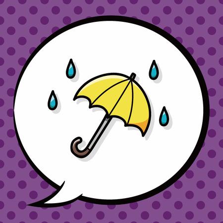 umbrella: umbrella doodle, speech bubble