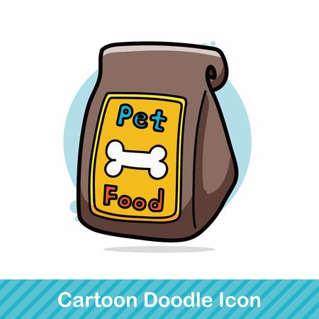 one animal: dog feed doodle