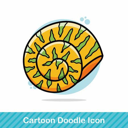 animal: sea animal shell doodle