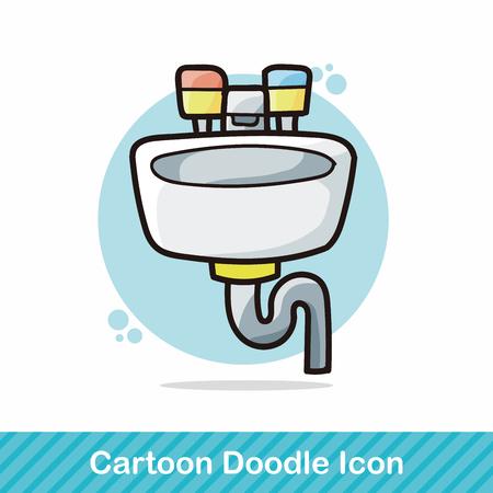 kitchen shower: sink doodle